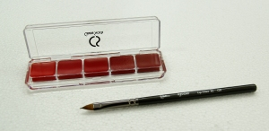 Lipstick plate with brush